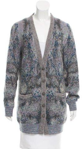 Chanel Mohair-Blend oversize Cardigan
