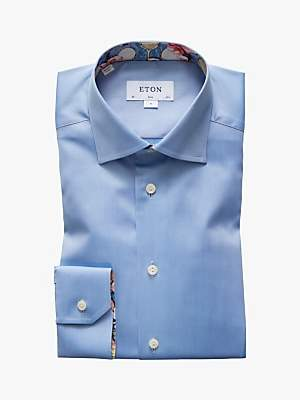 Eton Twill Tennis Detail Slim Fit Shirt