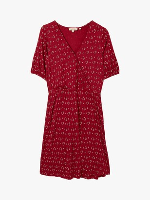 Fat Face FatFace Iona Batik Abstract Midi Dress, Claret
