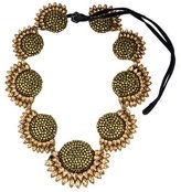 Vera Wang Sunflower Crystal Collar Necklace