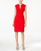 Calvin Klein Petite Keyhole Collar Sheath Dress