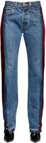 Couture Forte Dei Marmi Zac Velvet & Denim Patchwork Jeans