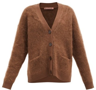Acne Studios Rives Mohair-blend Cardigan - Brown