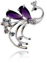 FHGBKFJBJM Phoenix Crystal rhinestone brooch Lay brooch pin Korean jewelry