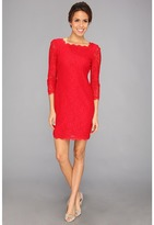 Adrianna Papell L/S Lace Dress