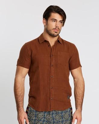 Scotch & Soda Linen Short Sleeve Shirt
