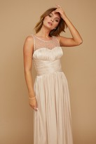 Thumbnail for your product : Little Mistress Grace Bridesmaid Beige Embellishment Sweetheart Maxi Dress