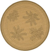 Safavieh Courtyard Large Palm Fronds Indoor/Outdoor Round Rug