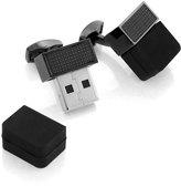 Tateossian Mechanical USB Cuff Links, Black