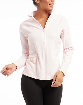 Bally Total Fitness Women's Non-Denim Casual Jackets BALLET - Ballet Slipper Space Dye Refined Jacket - Women