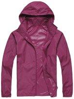 Alafen Unisex Lightweight Waterproof Sun Protection Jacket Skin Windbreaker Large