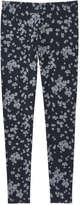 Joe Fresh Women's All Over Print Pant, Dark Blue Mix (Size L)