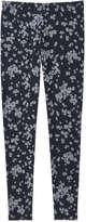 Joe Fresh Women's All Over Print Pant, Dark Blue Mix (Size M)