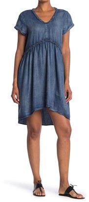 Velvet Heart Griselda Ruffle Trim Washed Chambray High/Low Dress