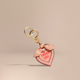 Burberry Young Love Motif Leather Key Charm