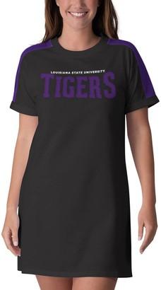 G Iii Women's G-III 4Her by Carl Banks Black LSU Tigers Training Camp Tee Dress