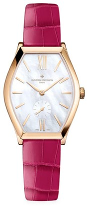Vacheron Constantin Malte 18K 5N Rose Gold & Alligator Strap Watch