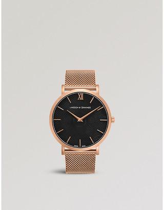 Larsson & Jennings LGN40-CMRG-CG-Q-M-RGB-O Lugano Sloane 18ct rose-gold plated watch