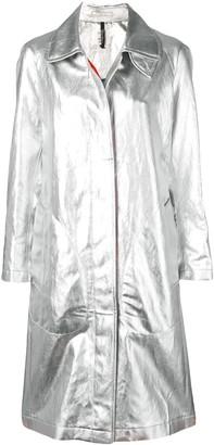 Santoni metallic trench coat