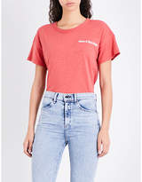 Rag & Bone Ladies Red Logo Print Casual Have A Nice Day Cotton-Jersey T-Shirt