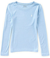 Ralph Lauren Little Girls 2T-6X Long-Sleeve Crew Neck Tee
