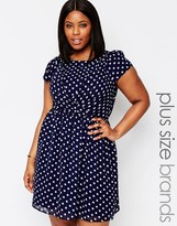 Koko Plus Skater Dress In Polka Dot