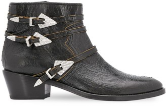 Zadig & Voltaire Ankle Length Buckled Boots