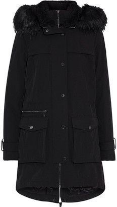 DKNY Faux Fur-trimmed Shell Parka