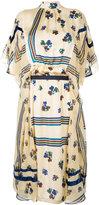 Sacai high neck printed dress - women - Polyester/Cupro - 1
