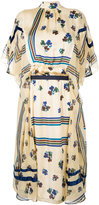 Sacai high neck printed dress - women - Polyester/Cupro - 2