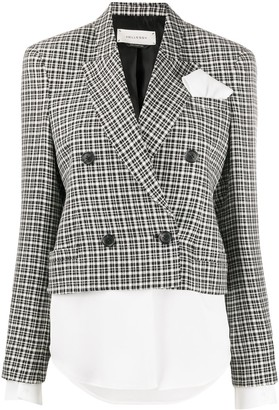 Hellessy Checked Double-Breasted Blazer