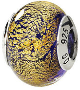 Murano Prerogatives Sterling Gold/Purple Italian Glass Bead