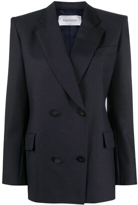 Valentino Double-Breasted Tailored Blazer