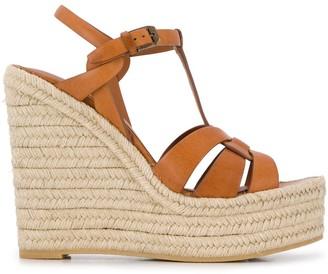 Saint Laurent high wedge heel sandals