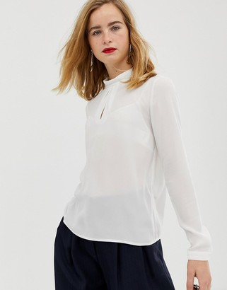 Selected roll neck blouse