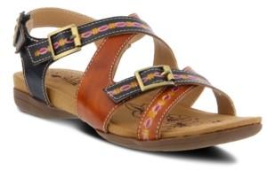L'Artiste Women's Lilliana Crisscross Slingback Sandals Women's Shoes