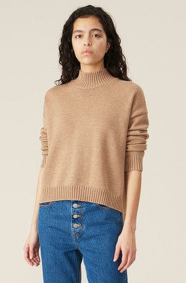 Ganni Wool Knit Oversized Pullover