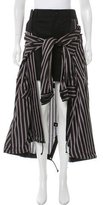 Sacai Stripe Overlay Midi Skirt w/ Tags