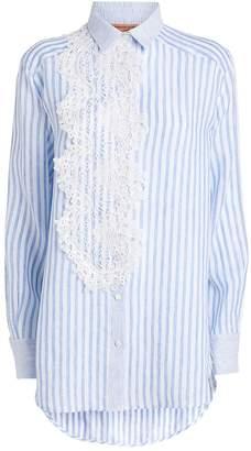 Ermanno Scervino Striped Lace Panel Tunic