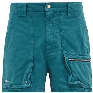 Phipps Holocene Garment-dyed Cotton-twill Cargo Shorts - Blue