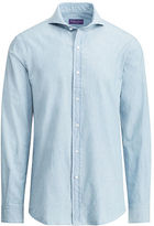 Ralph Lauren Purple Label Keaton Tailored Chambray Shirt