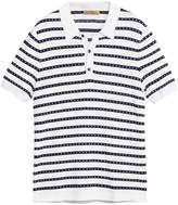 Burberry striped knitted polo shirt