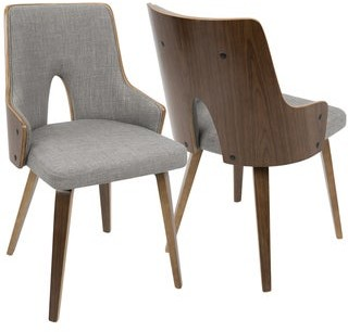 Lumisource Stella Mid-Century Modern Padded Dining/Accent Chair