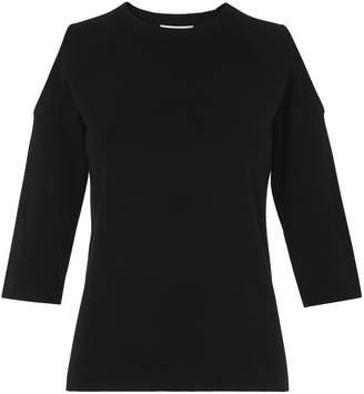 Whistles Cold Shoulder 3/4 Sleeve Knit