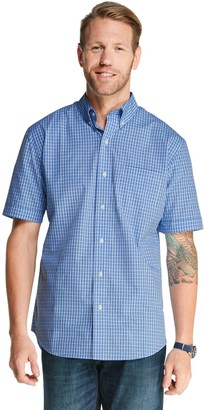 Arrow Men's Hamilton Poplin Plaid Button-Down Shirt