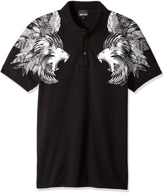 Just Cavalli Men's Jc Lion Printed Polo