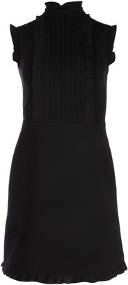 Miu Miu Ruffle Sleeveless A-Line Dress