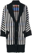 Missoni shawl lapel striped cardigan