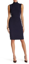 Alexia Admor Scallop Mock Neck Dress