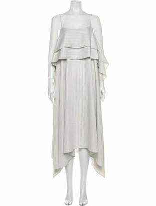 ADEAM Square Neckline Long Dress w/ Tags Grey